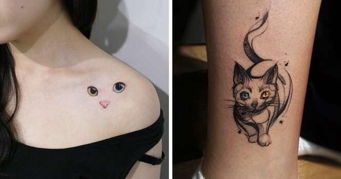 As melhores ideias de tatuagens de gatos