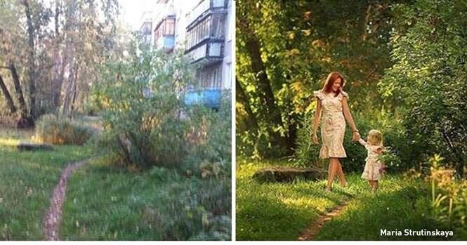 Imagens mostrando a diferença entre fotógrafos amadores e profissionais
