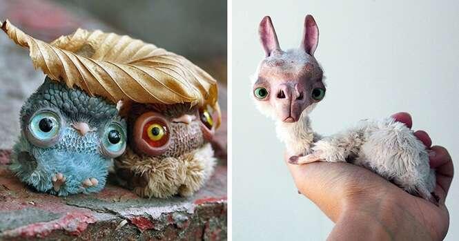 Lindos e adoráveis bonecos criados por um artista de talento