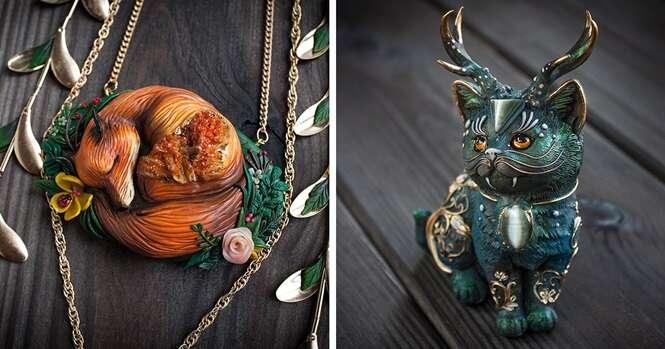 Talentosa artista faz lindas joias em formato de animais