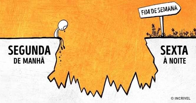 Ilustrações que retratam situações divertidas da vida