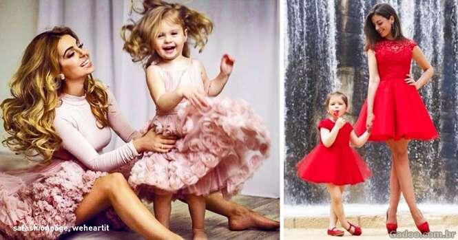 Filhas que parecem suas mães em miniatura