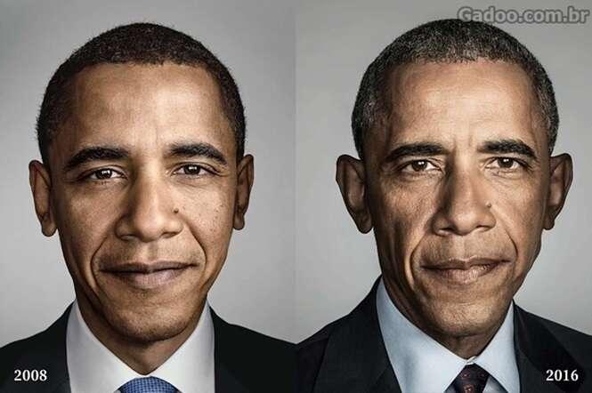 Imagens mostram o quanto Barack Obama envelheceu em 8 anos