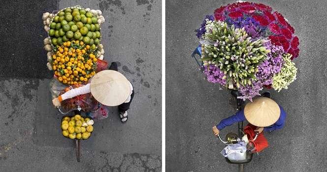 Incríveis imagens aéreas de ciclistas