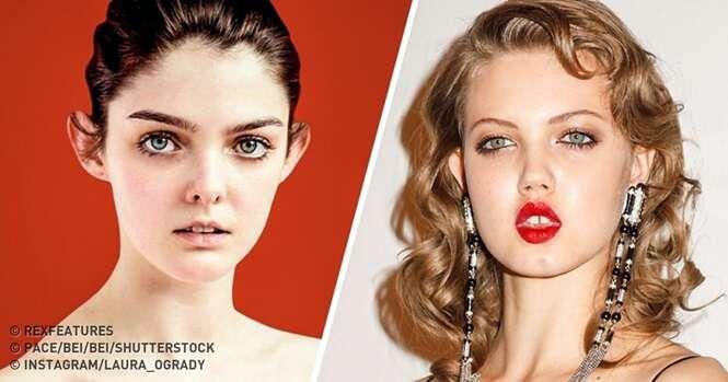 Modelos provando que aparência incomum não é um problema