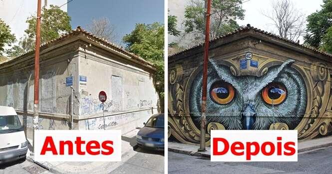 Antes e depois: 10 inacreditáveis transformações através da arte de rua