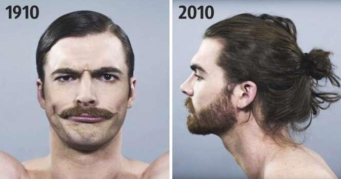 Como os padrões da beleza masculina mudaram ao longo de 100 anos