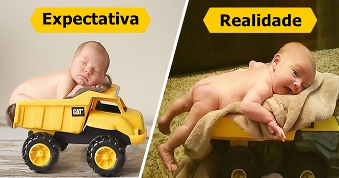 Imagens hilárias de bebês que não queriam ser fotografados