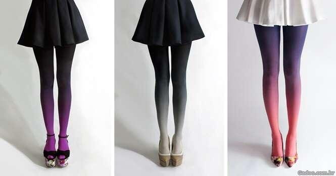 Lindas meias calças tingidas à mão