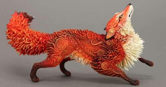 Fantásticas esculturas de animais criadas por artista russo