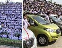 Melhor chefe do mundo? Patrão presenteia seus funcionários com 1.260 carros e 400 apartamentos