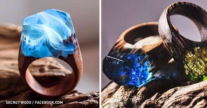 Estes provavelmente são os mais belos anéis de todo o mundo
