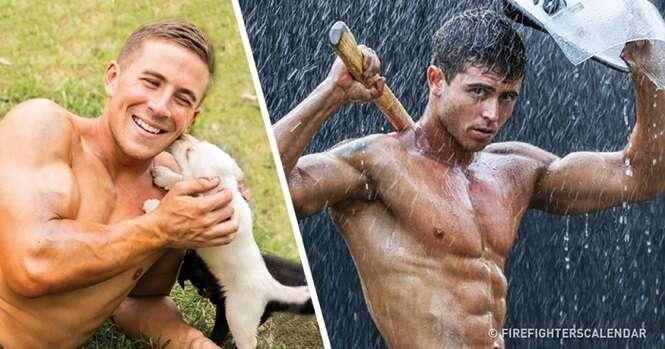 Estes bombeiros australianos vão deixar muita gente louca com este calendário