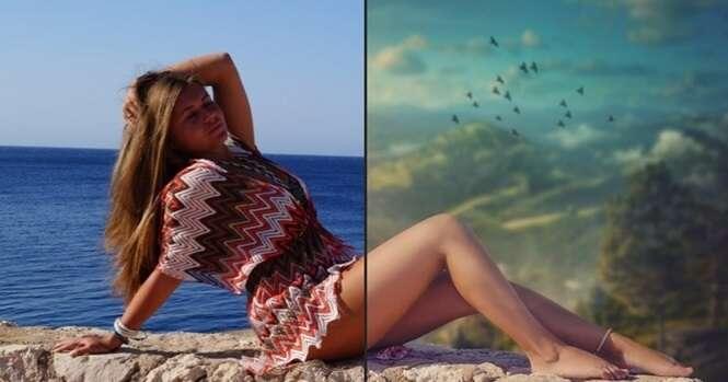 Imagens surpreendentes antes e depois do Photoshop