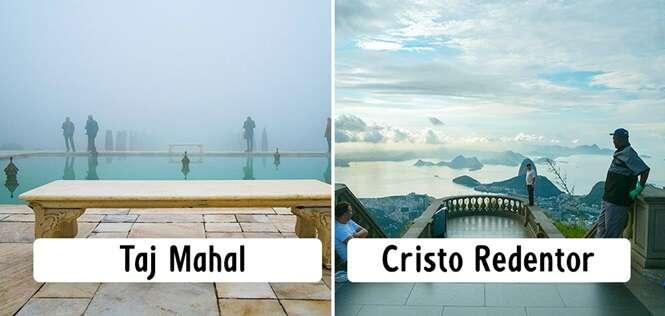 Faces que praticamente ninguém nota nos lugares mais visitados do planeta