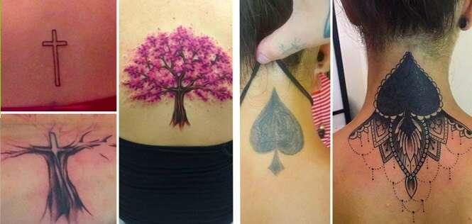 Pessoas que se arrependeram de suas tatuagens, mas que conseguiram consertá-las