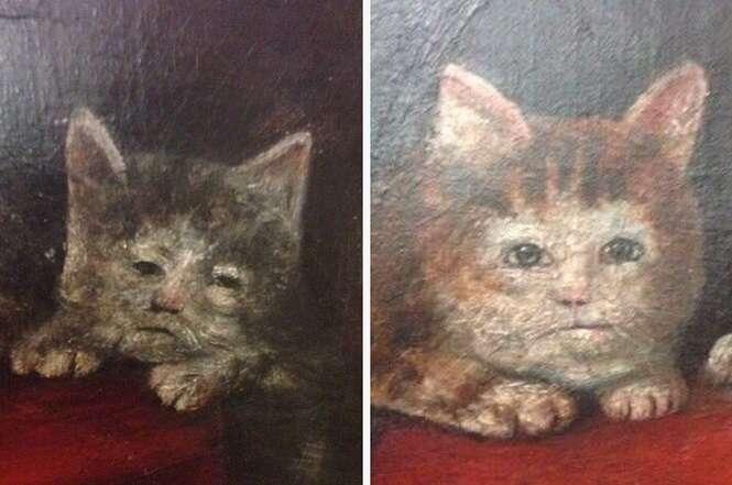 Pinturas medievais de gatos que não são nada belas
