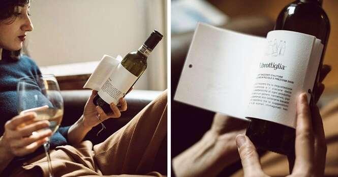 Estes vinhos vêm com pequenos contos para você ler enquanto saboreia a bebida