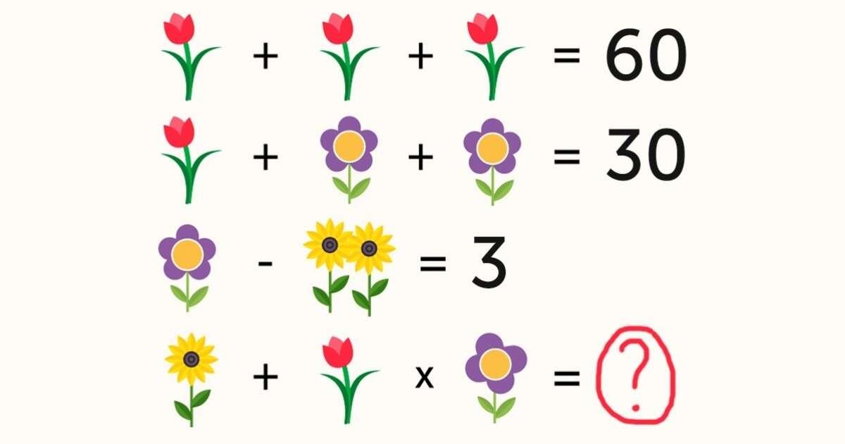 Você consegue descobrir a resposta para esta equação?