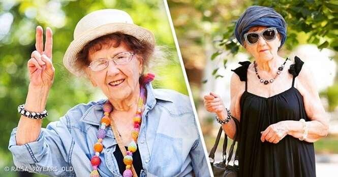 Idosa de 90 anos cria conta no Instagram e se transforma em estrela na internet