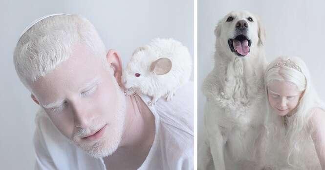 Sessão de imagens mostra a beleza de pessoas albinas