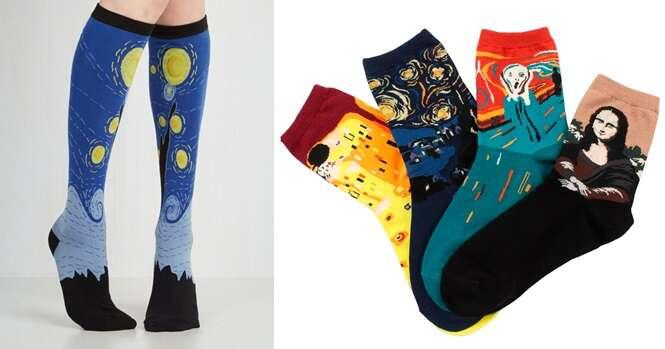 Estas meias são os presentes perfeitos para quem é amante de arte