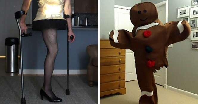 A cada Dia das Bruxas, este homem que perdeu a perna para o câncer aparece com uma fantasia incrível