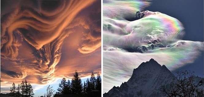 Impressionantes formações de nuvens que não vemos todo dia