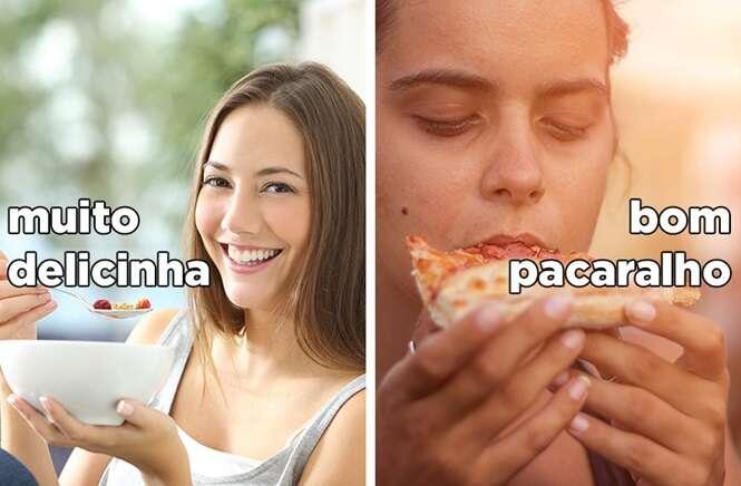 Imagens mostrando a diferença entre você e quem não fala palavrão