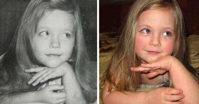 Fotos mostrando como a herança genética é surpreendente
