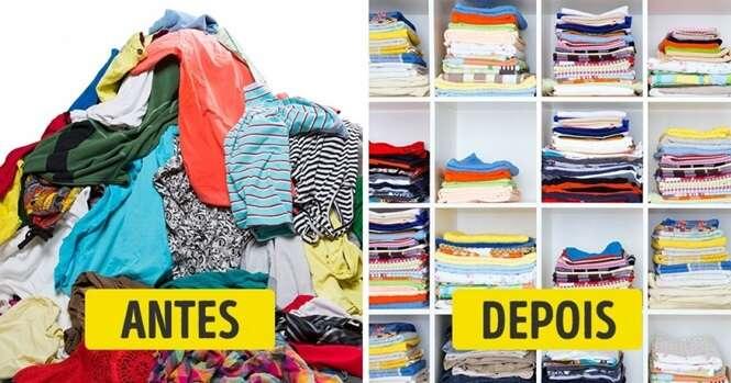Essas são as melhores formas de dobrar roupa para economizar espaço no guarda roupa