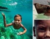 As crianças dessa tribo têm a capacidade de enxergar perfeitamente debaixo d'água