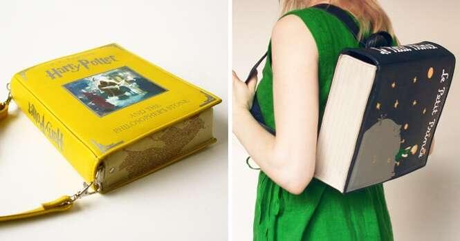 Com estas lindas bolsas, você sempre terá seus livros favoritos por perto