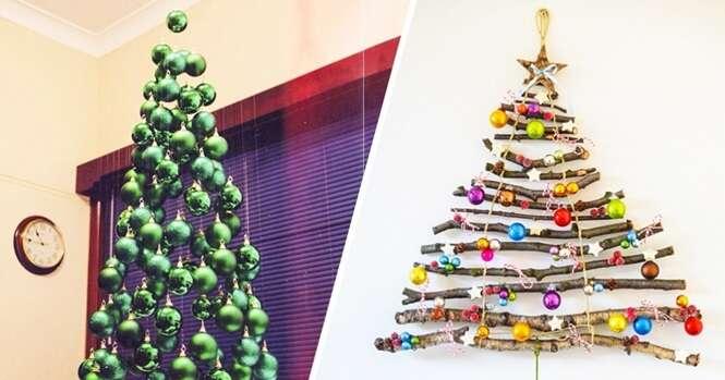 As ideias mais criativas para fazer árvores de Natal diferentes