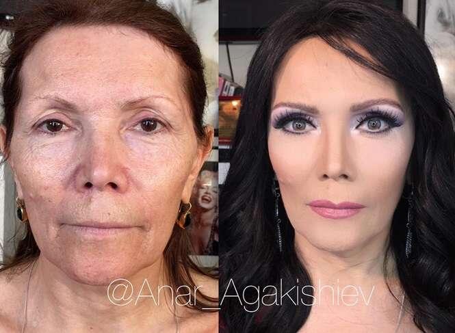 Talentoso profissional faz mulheres parecerem dezenas de anos mais jovens apenas usando truques maquiagem