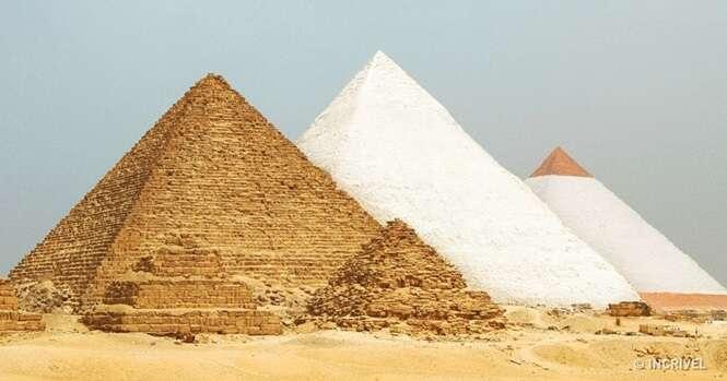 Como seriam alguns dos lugares mais conhecidos do mundo se tivessem sido terminados ou se não tivessem sido destruídos
