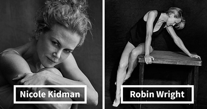 Calendário mostra a beleza natural de celebridades em imagens sem Photoshop