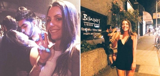 """Fotos provando que essa jovem se diverte muito """"segurando vela"""" para pessoas estranhas"""