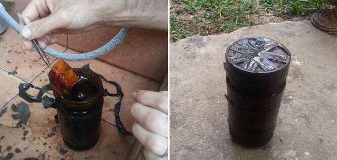 Este casal achou uma coisa aterrorizante enterrada no quintal da casa que alugou