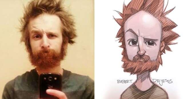 Ilustrador transforma pessoas comuns em personagens de anime