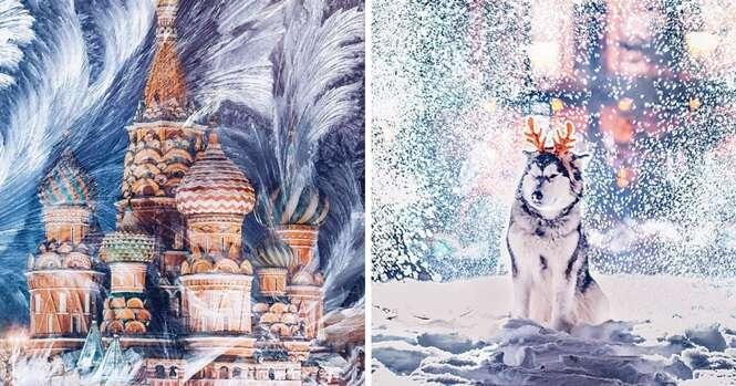 Fotos mostrando que Moscou, na Rússia, parece um conto de fadas durante o inverno
