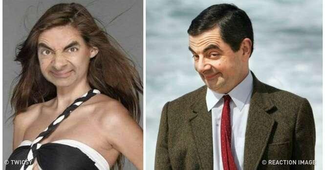 Como você pensa que a filha do Mr. Bean é e como ela realmente é