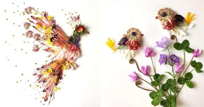 """Artista faz trabalho incrível usando """"peças"""" da natureza"""