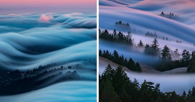 Fotos incríveis de nevoeiros