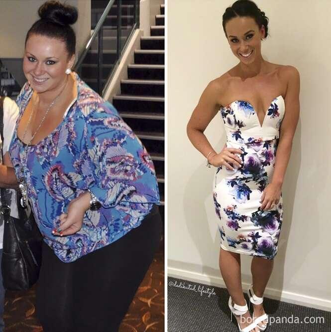 Pessoas provando que com força de vontade e dedicação é possível perder peso