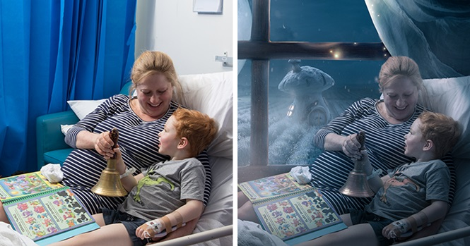 Fotógrafa usa Photoshop para dar a crianças gravemente doentes um Natal mágico