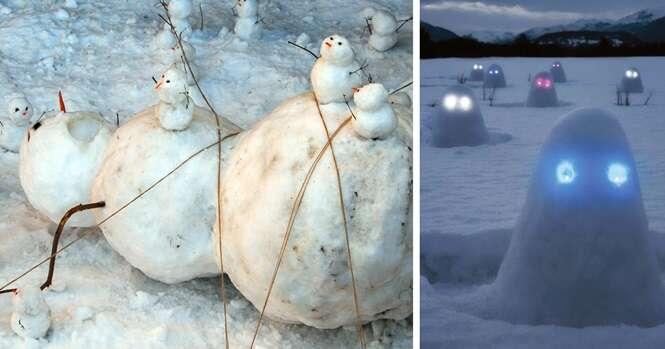 Os bonecos de neve mais criativos que você já viu