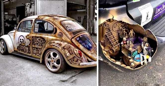 Pessoas que decoraram seus carros criativamente
