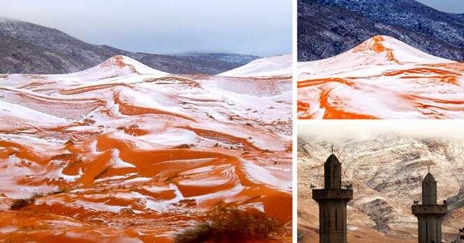 Neva no Deserto do Saara pela primeira vez em mais de 37 anos