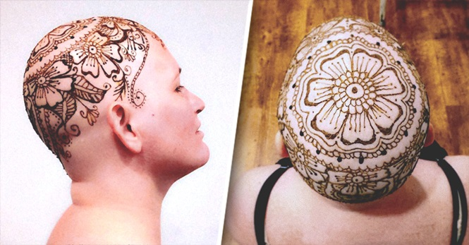 Artista faz tatuagens de henna em paciente com câncer